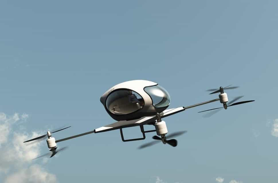 uber taxi drone